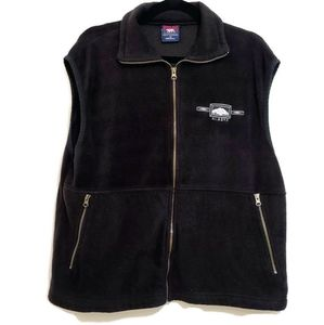 Mens Black Polar Fleece Alaska Vest